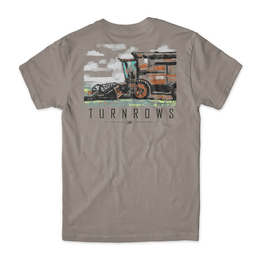 TURNROWS COMBINE PAINTING FARMING