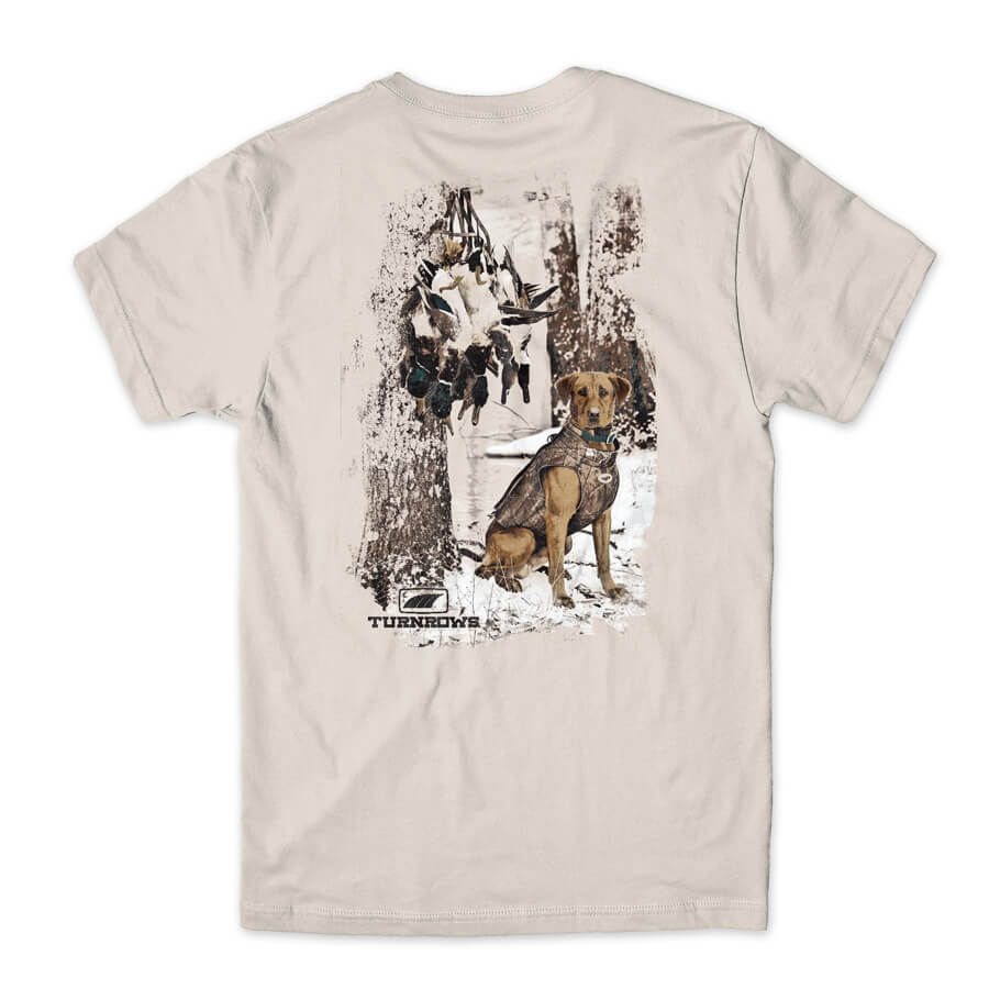 TURNROWS DUCK HUNTING DOG SNOW