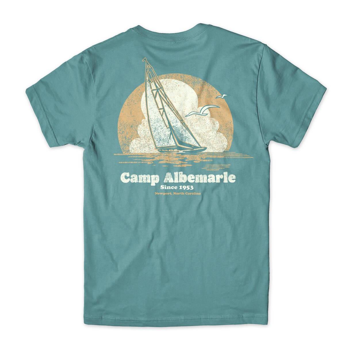 Camp Albermarle Sailboat t-shirt design