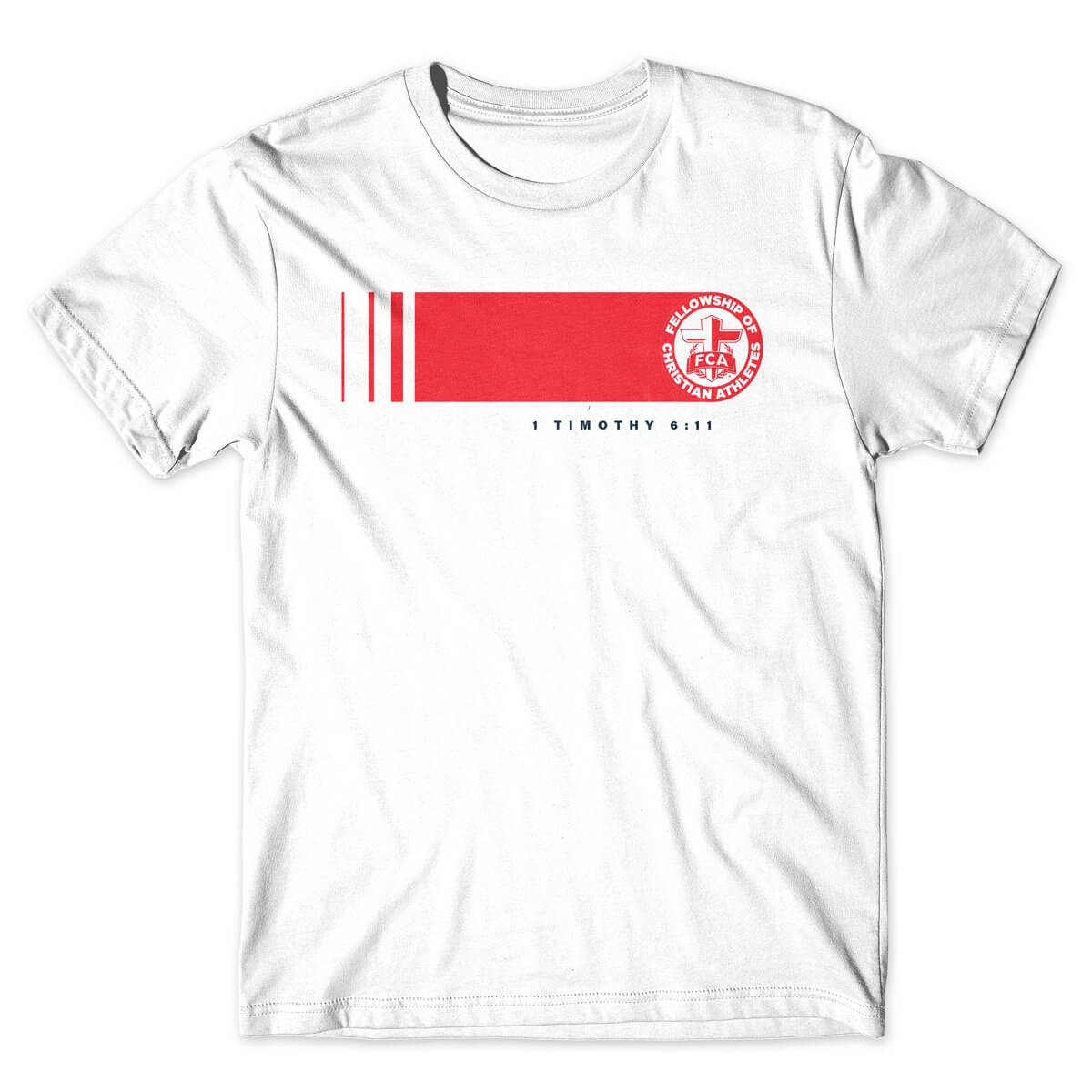 Fellowship of Christian Athletes white logo rush tshirt