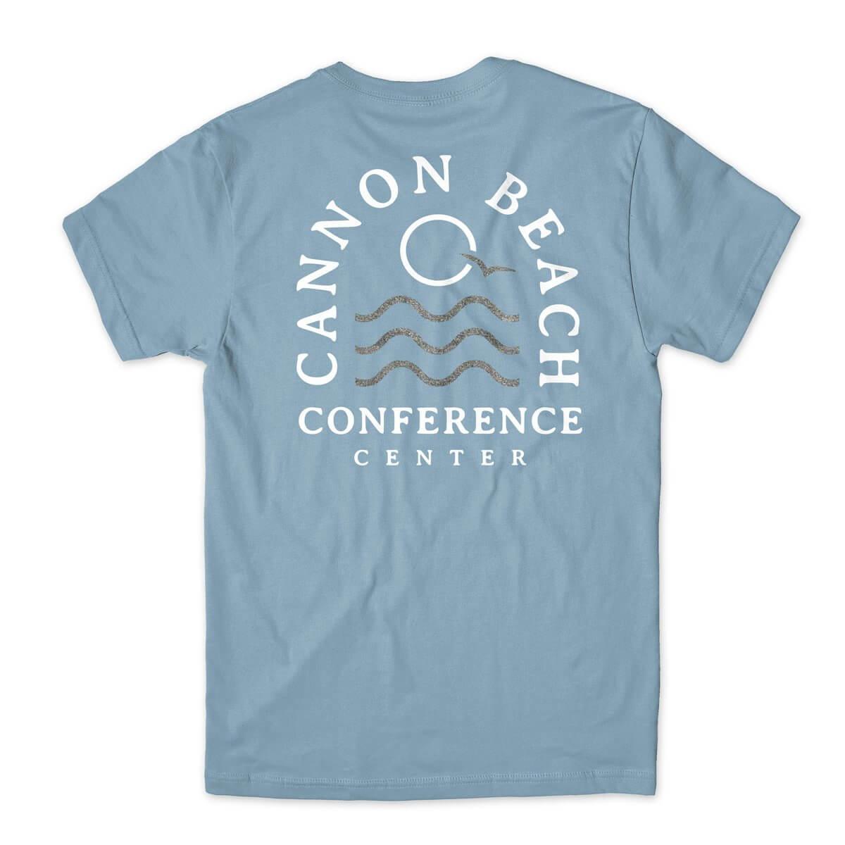 Cannon Beach Glitter Wave blue tshirt