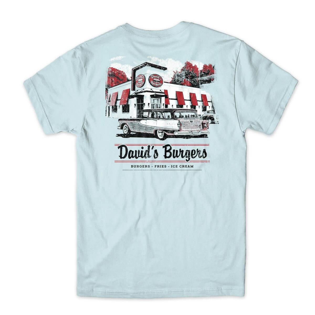 David's Burgers Station Wagon tshirt