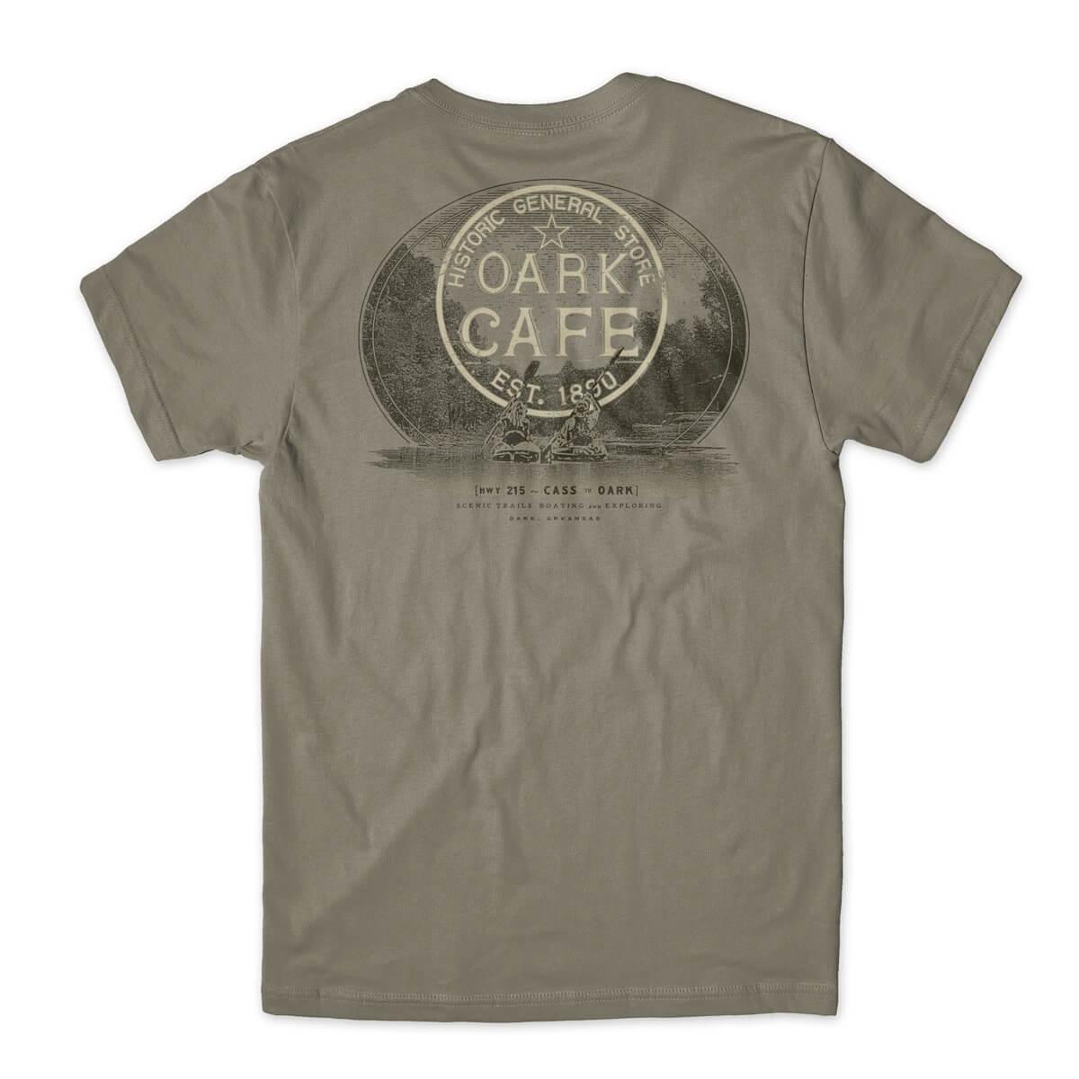 Oark Cafe kayak t-shirt design